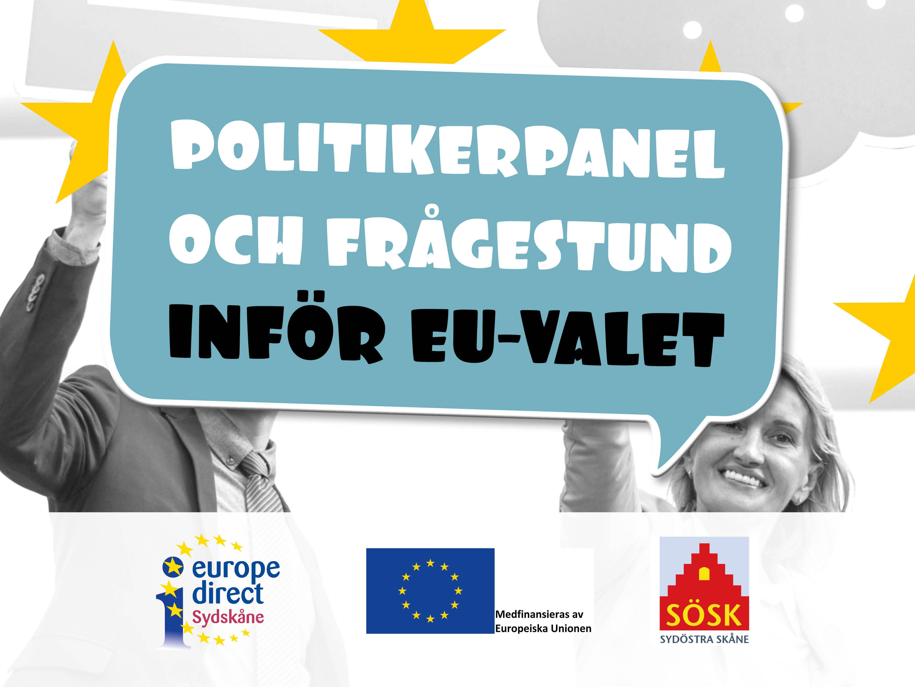 Politikerpanel och frågestund inför EU-valet @ Ystad