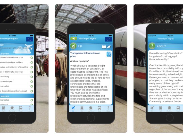 App hjälper dig att hålla koll på dina rättigheter på resan