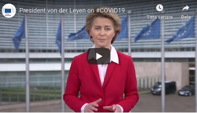 EU beviljar upp till 80 miljoner euro till forskning gällande vaccin mot coronaviruset