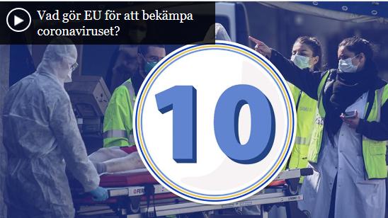 Tio saker EU gör för att bekämpa coronaviruset