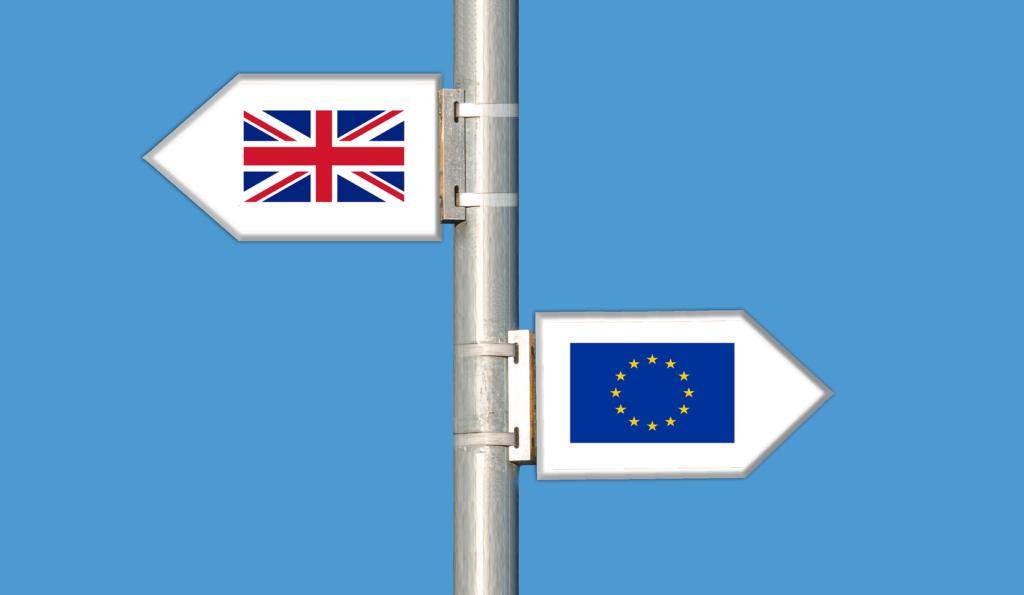 Vägval som symboliserar Brexit