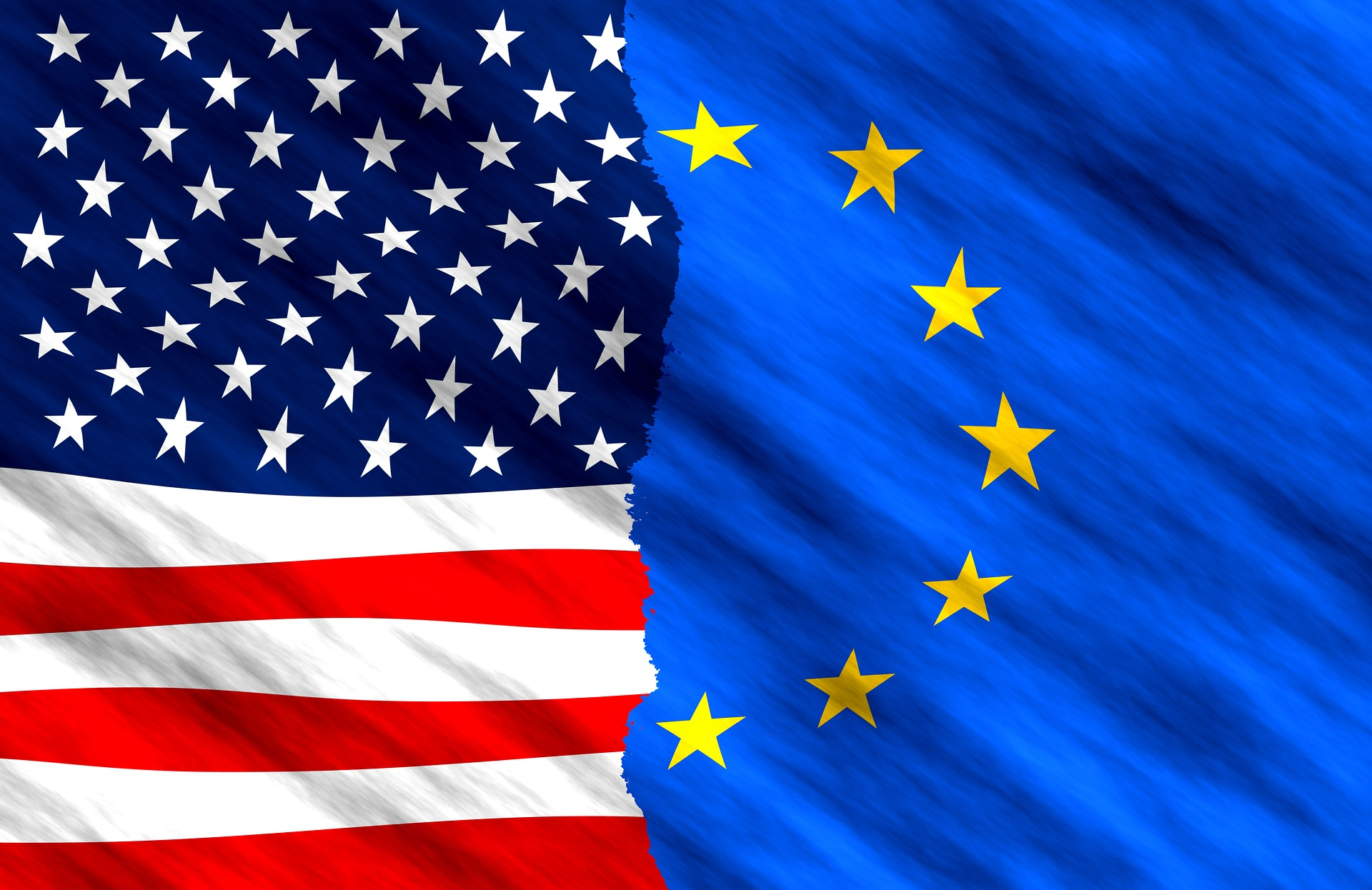 EU USA Flagga