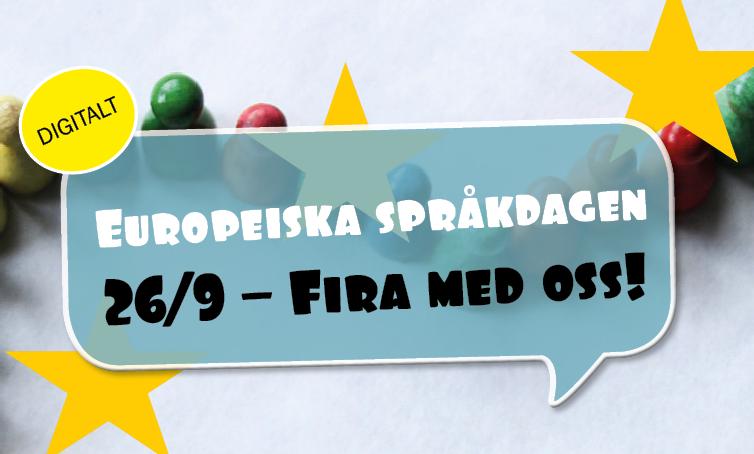 Fira Europeiska språkdagen med oss!