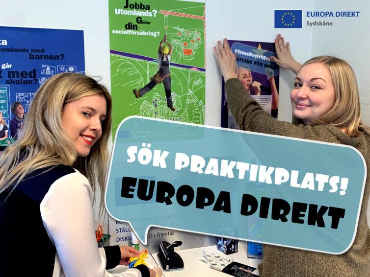 Europa Direkt Sydskåne söker praktikanter till VT2022!